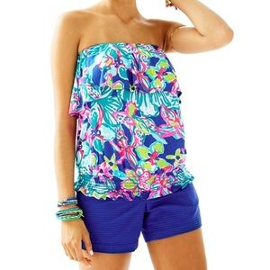 Lily Pulitzer Katelyn Tube Top Floral Jersey Knit